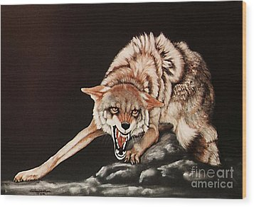 Dont Mess With Me Wood Print by DiDi Higginbotham