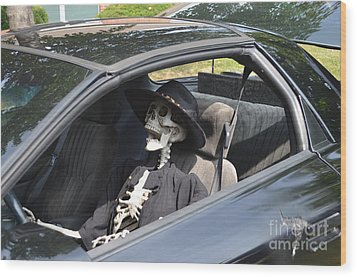 Don't Text And Drive Wood Print by Luther Fine Art