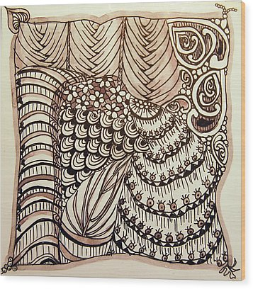 Doodling Fun Wood Print by Terry Holliday