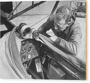 Doolitle' Blind Plane Wood Print by Underwood Archives