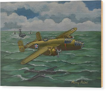 Wood Print featuring the painting Doolittle Raider 2 by Murray McLeod
