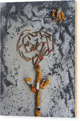 Doomed Love By Darryl Kravitz Wood Print by Darryl  Kravitz