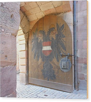 Wood Print featuring the photograph Door At Nuremberg by Kay Gilley