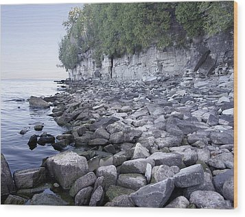 Door Bluff Headlands Cp Wood Print by Jim Baker