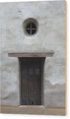 Door-cc Wood Print by Joey  Maganini
