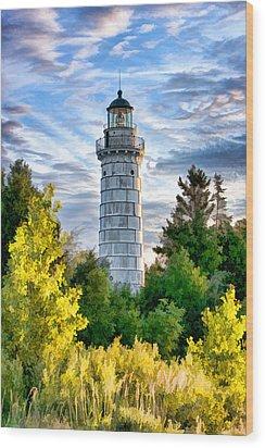 Door County Cana Island Beacon Wood Print