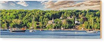 Door County Ephraim Harbor Sunset  Panorama Wood Print