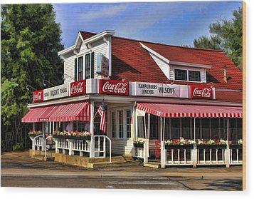 Door County Wilson's Ice Cream Store Wood Print by Christopher Arndt