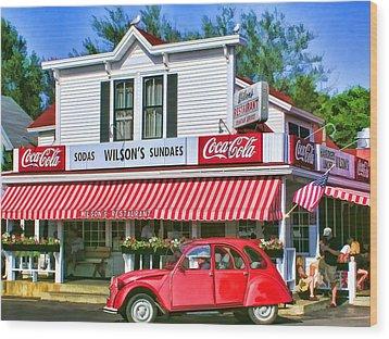 Door County Wilson's Restaurant And Ice Cream Parlor Wood Print
