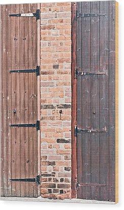 Door Hinges Wood Print by Tom Gowanlock