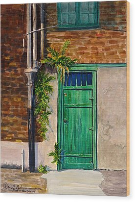 Door In New Orleans Wood Print