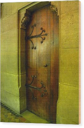 Door Inside Notre Dame Paris Wood Print