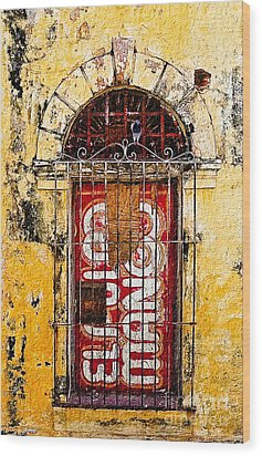Wood Print featuring the photograph Door Series - Yellow by Susan Parish