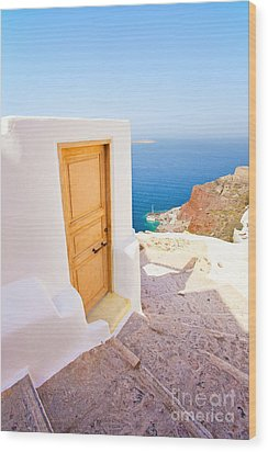 Door Suddenly Wood Print by Aiolos Greek Collections