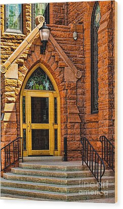 Door To Sanctuary Series Image 1 Of 4 Wood Print by Lawrence Burry