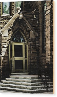 Door To Sanctuary Series Image 4 Of 4 Wood Print by Lawrence Burry