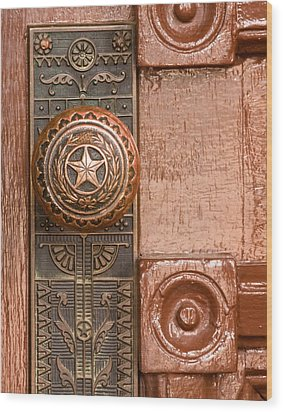Door To Texas State Capital Wood Print by David and Carol Kelly