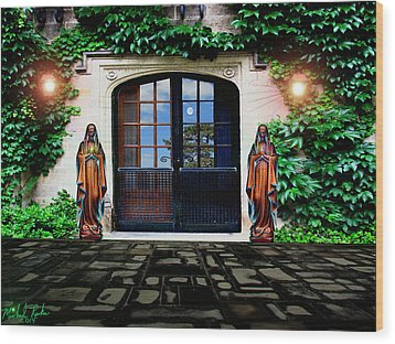 Doors Of Ivy Wood Print by Michael Rucker