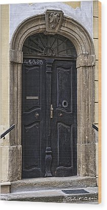 Doors Of Kromeriz Wood Print