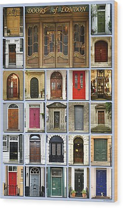 Doors Of London Wood Print