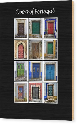 Doors Of Portugal Wood Print