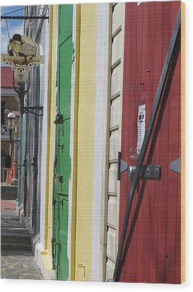 Doors Of St. Thomas Usvi  Wood Print by Jean Marie Maggi