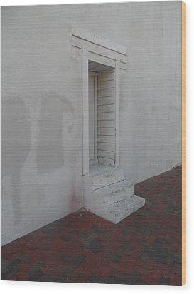 Doorway Aslant Wood Print