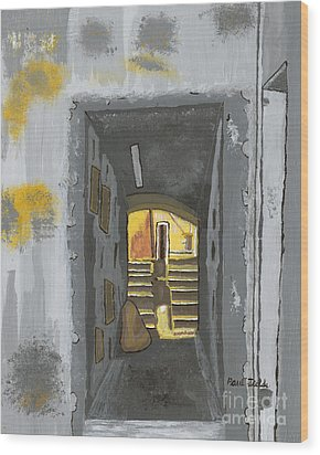Doorway In Cinque Terra Wood Print