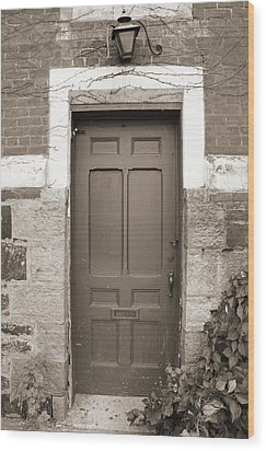 Wood Print featuring the photograph Doorway In Sepia by Brooke T Ryan