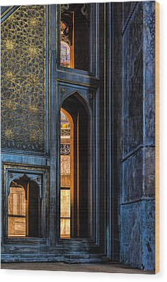 Doorway In The Blue Mosque Wood Print by Marion McCristall