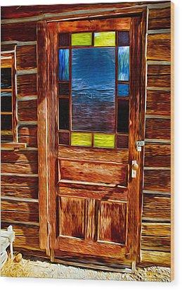 Doorway To The Past Wood Print by Omaste Witkowski