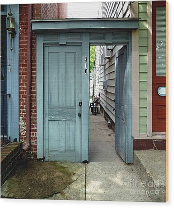 Wood Print featuring the photograph Doorways Of Bordentown Series - Door 2 by Sally Simon
