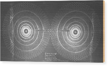 Wood Print featuring the drawing Doppler Effect Parallel Universes by Jason Padgett