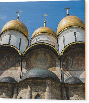 Dormition Cathedral - Square Wood Print by Alexander Senin