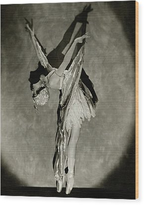 Dorothy Dilley In The Butterfly Dance Wood Print by Nickolas Muray