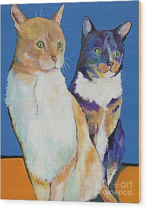 Dos Amores Wood Print by Pat Saunders-White