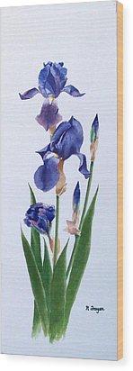 Dot's Iris Wood Print