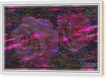 Dots Of Light And Roses Wood Print by Barbara Griffin