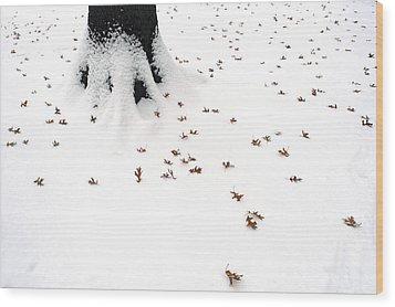 Dots Wood Print by Yue Wang
