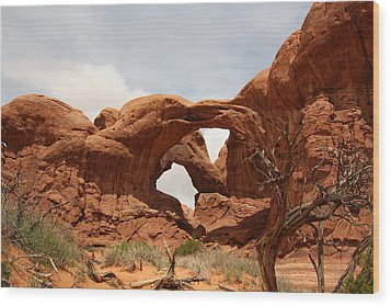 Double Arch In Arches Np Wood Print
