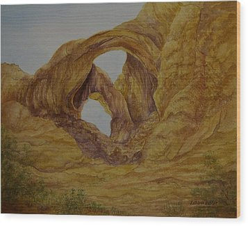 Double Arches Wood Print by Kathleen Keller