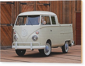 Double Cab Wood Print by Peter Tellone