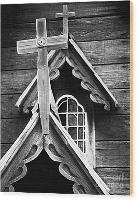Double Cross Wood Print by Jim Rossol