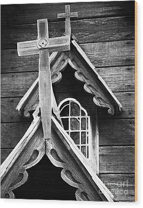 Double Cross Wood Print