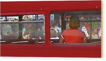 Wood Print featuring the photograph Double Decker by Tom Dickson