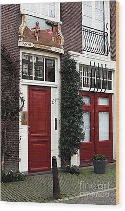 Double Dutch Red Wood Print by John Rizzuto