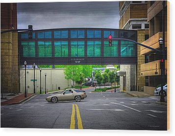 Wood Print featuring the photograph Double Line by Dennis Baswell