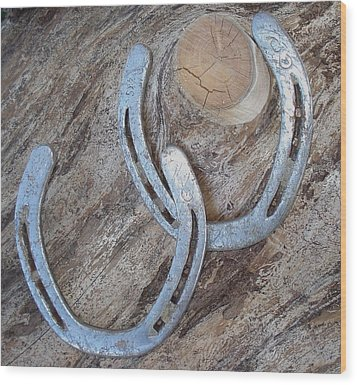 Wood Print featuring the photograph Double Luck Two by J L Zarek