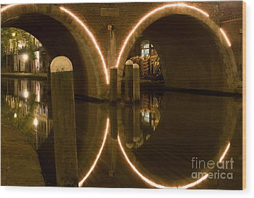 Wood Print featuring the photograph Double Tunnel by John Wadleigh