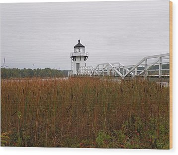 Doubling Point Light Wood Print by Gene Cyr